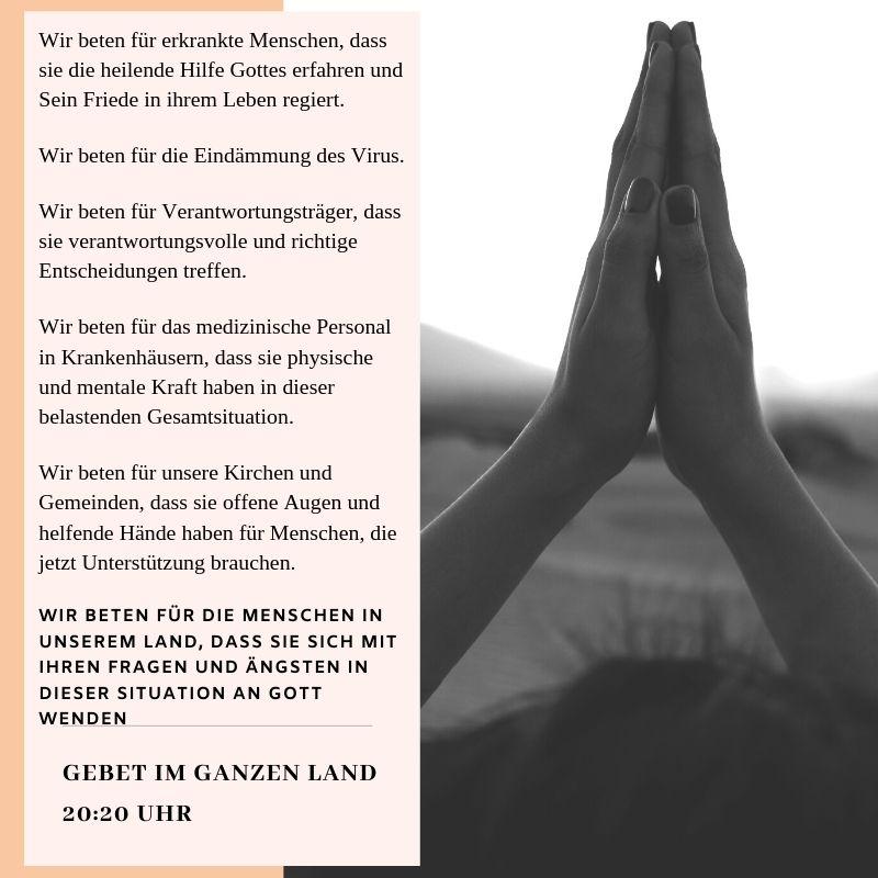 Gebet im ganzen Land